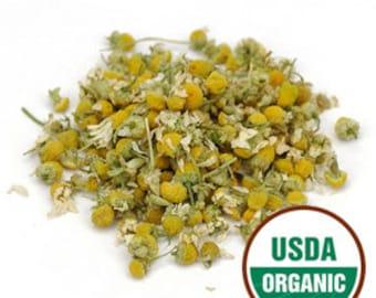 Organic Chamomile Flowers 1 oz