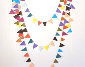 paper bunting - carnival flags - party garland