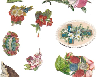Victorian style florals for papercrafts