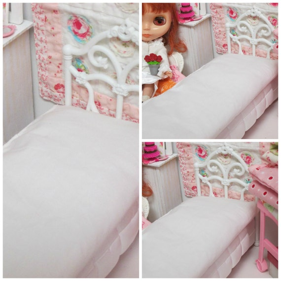 Custom-Blythe Doll Barbie Doll basic bed mattress-1:6 Scale