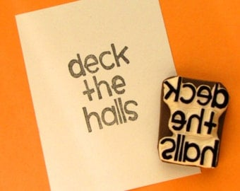 Deck the Halls holiday stamp