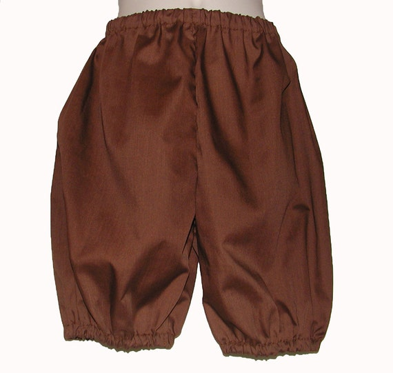 Brown Costume Britches for Boys: Size 6 / 8