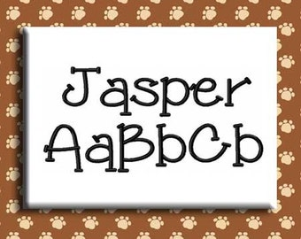 Jasper Embroidery Font Includes 6 Sizes