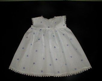 White Embroidered Cotton Dress in Size 12 Months