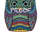 Reserved Owl print A5