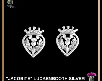 Jacobite Scottish Luckenbooth Thistle Earrings - Stud
