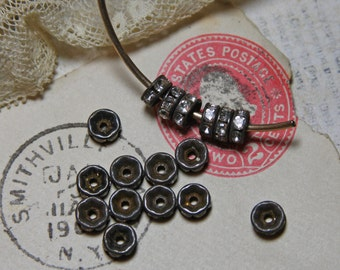 Rhinestone Rondelles 6mm for Jewelry Making (12)