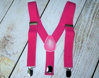 Hot Pink Suspenders Infant Suspenders girls suspenders toddler suspenders kids suspenders photo prop cake smash