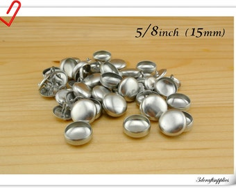 25 sets of  cover buttons 5/8 inch (15mm)  Size 24 Self cover buttons Wire back Cover button wholesale
