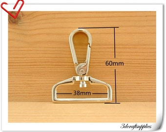 1.5 inch (38mm)  Light gold   purse hook Push gate Hooks Straps hooks  6 pieces AC22