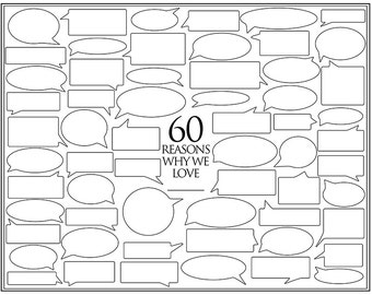 Personalized Birthday Present – 60 Reasons We Love You – Template for Print or Editing – Photoshop Template – 60th Birthday