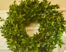 "Fresh 10-12"" boxwood wreath, small boxwood wreath, candle wreath, boxwood, winter wreath, holiday wreath, Christmas wreath,"