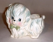 Vintage Lefton Dog Planter White Dog Planter Home Decor Japan