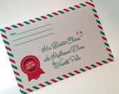Letter to Santa - Holiday Stationery for Kids - individual card