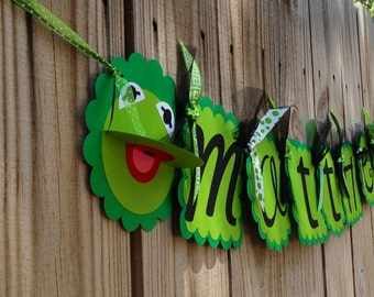Whimzical Name Banner- Kermit the Frog