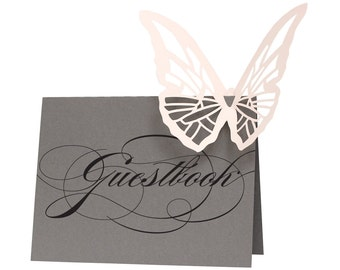 Butterfly Wedding Guestbook Sign - Reserved for Lauren