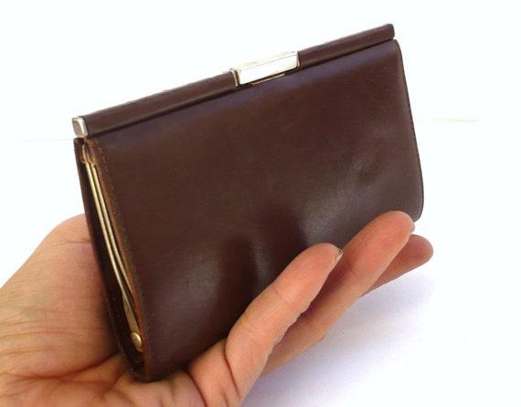 LE TANNEUR French Vintage Brown Leather Purse / Wallet