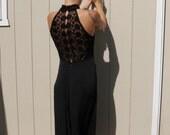 Vintage Jessica McClintock palazo jumpsuit