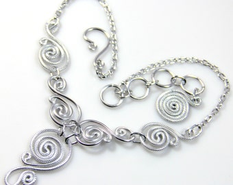 Spiral Waves Necklace