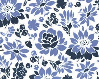 1 yard of Midnight Picnic Flowers by Sandi Henderson