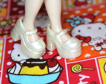 Blythe Pearl Shimmer Platform Mary Jane Doll shoes
