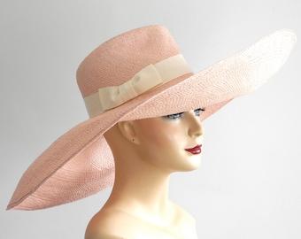 Floppy Wide Brim Panama Fedora Hat- Women's Hat- Straw Hat- Kentucky Derby Hat  Spring Fashion- Spring Accessories- Summer Hat- Panama Hat
