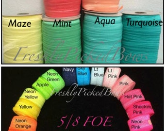 5/8 FOE 28 colors available You choose size and color