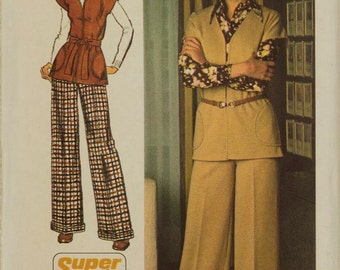 Vintage Simplicity 5739 Sewing Pattern Unlined Jacket and Pants Size 12 Bust 34
