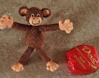 Bonnie's OOAK Crochet Cotton Thread Item  Mighty Tiny Monkey -- not A Toy