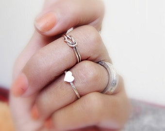 Sterling silver heart ring- sterling silver little heart- size made to order.