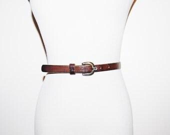 Vintage Etienne Aigner 70s Oxblood Belt
