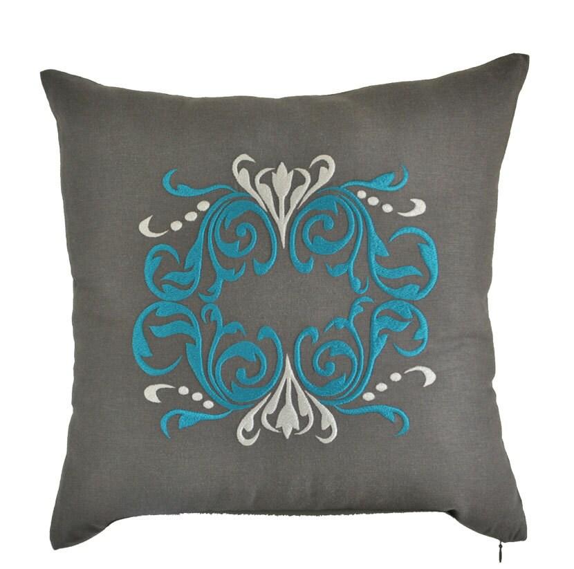 Throw Pillows Damask : Damask Pillow Cover Decorative Pillow Throw Pillow Cover