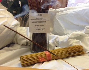 Bliss Life Affirming Incense -11 inch Double Dipped  and Handcrafted