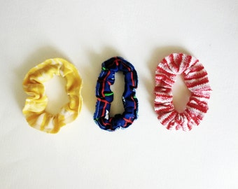 Scrunchie Hair Band Set, Hair Tie, Scrunchy,  90s Style, Hair Scrunchy