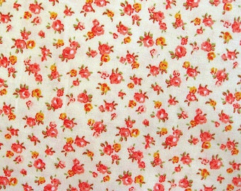 Japanese Cotton Fabric - Little Roses - Fat Quarter