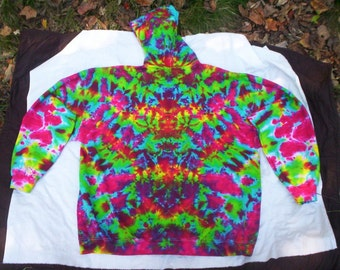 Touch of Pink Zip Hoodie Tie Dye - Sizes S - 3X