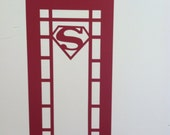 Superman Decal -Superman Phone Booth - Super Hero Room Decor - Boys Bedroom Sticker  - Superhero Wall Art - Made in USA