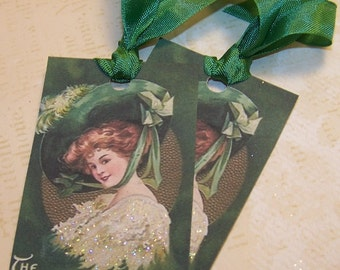 St. Patrick's Day Tags - Vintage Style - Set of 6