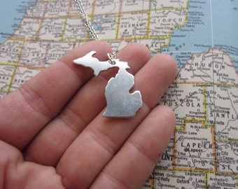 The Margie Necklace - Michigan Love Pendant Necklace or Key Chain