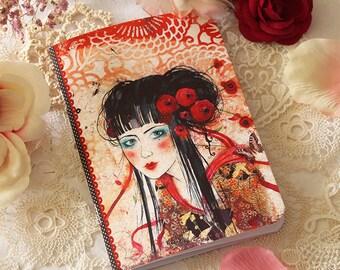 Illustrated notebook - Geisha
