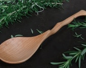 Long Handled Wooden Spoon in Clear Hard Maple