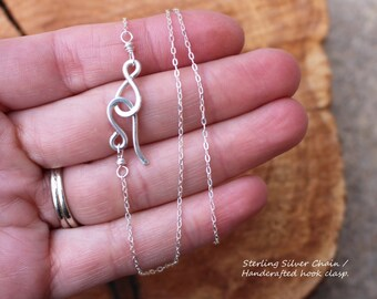 Chain, Sterling Silver, Hook Clasp