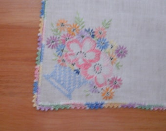 Square Embroidered Scarf