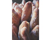 French Country, Food Photography, Baguette Photograph, Bread Photo, Kitchen Decor, Beige, Brown, Farmhouse Decor, Bakery, Fine Art Print
