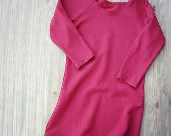 Red organic cotton sweatshirt, more colors, organic sweater top, handmade sweatshirt, made in Canada, organic clothes shop