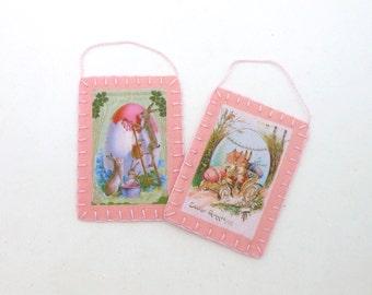 Easter Image Postcard Ornaments - Set of 2