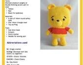 PDF Amigurumi Pattern:  Baby Pooh