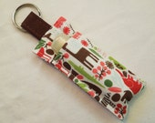 Chap Stick Holder, Lip Balm key chain, chapstick case, lip stick, Lipbalm case cozy-Tiny Zoo