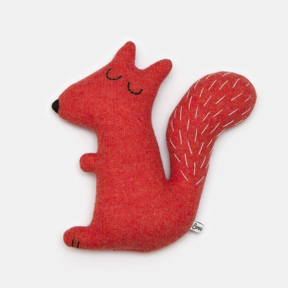 Stanley the Squirrel Lambswool Plush Toy - Made to order