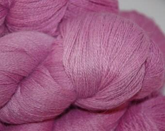 Studio June Yarn Cash Paca Lace - Baby Alpaca/Cashmere/Silk, 1300 yards, Color: Light Raspberry